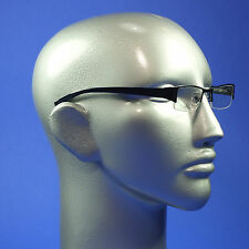 Computer Reading Glasses Deep Blue Tech Frame Bottomless Screen TV Lens  +3.50