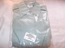 New Women's Class A Military Dress Shirt Long Sleeve Army Green Size 10S