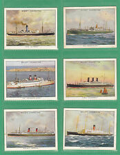 W. D. & H. O. WILLS LTD. -  RARE SET OF L30 FAMOUS BRITISH LINERS CARDS  -  1934
