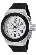 Swiss Legend TRIMIX 2.0 Swiss Chronograph Silver Watch Black Silicone NEW!