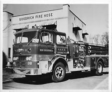 New Brunswick Fire Dept pumper truck N.B., NJ Orig 8 x10 B/W Photo B210