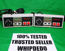 LOT OF 2 OFFICIAL NINTENDO ENTERTAINMENT SYSTEM CONTROLLERS OEM NES-004 TESTED