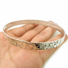 Large HM Hallmarked Sterling 925 Silver Celestial Star Bangle