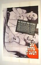 SIV ANNE & SVEN 1971 MOVIE POSTER sexploitation one sheet JOE SARNO ann