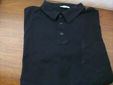 Pringle Golf Black 100% Cotton Short Sleeve Collared Top, Large, Underarm 44""