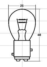 RAYBRIG Light Bulb for Tail Lamp KAWASAKI KLX250