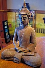 Thai Sitting Zenjo Buddha Statue Figurine Rust Patina New in Box