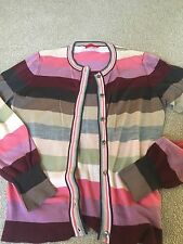 Gorgeous Pringle Ladies Merino Cardigan Sweater Size Small