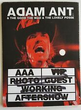 Adam Ant/ The Ants  Red face shot  Guest Working Colour 2011 Tour Pass Altered