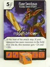 Yu-Gi-Oh Dice Masters - #049 Flame Swordsman - Flaming Sword of Battle Base Set