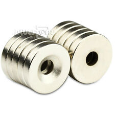 10pcs N50 Strong Disc Neodymium Rare Earth Countersunk Magnets 15 x 3mm Hole 3mm