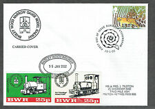 Bagley Wood Railway 2002 15th January cover with 2 x 25p stamps (2)