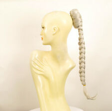 Hairpiece ponytail plait long 19.69 white ref 4 60 peruk