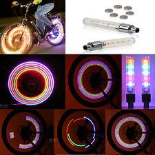 Bunte 2ST 5 LED Fahrrad Rad Reifen Ventil Cap Neon-Licht Fahrrad sprach Lampe