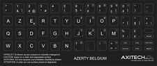 AXITECH NOTEBOOK KEYBOARD STICKERS AZERTY BELGIUM BELGIË BELGIQUE BLACK (1 PC)