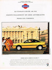 PUBLICITE ADVERTISING 025  1992  NISSAN COUPE 100 NX