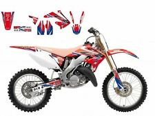BLACKBIRD HONDA CR 250 2002 KIT GRAFICHE REPLICA HRC 2015 GRAPHICS ROSSO BLU RED
