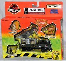 Jurassic Park The Lost World Matchbox Rage Rig with Wrecking T-Rex Die-Cast 1997