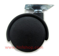 """4/pk 1.5"""" furniture swivel casters/wheel w/ plate no brake for replacement part"""