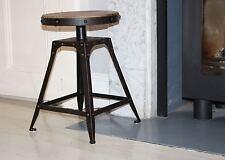 Bas tabouret 46.5cm hauteur fixe urbain vintage industriel Matures rouillé