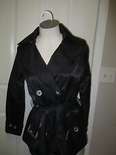 Jou Jou Double Breasted Belted Jacket S  Black  NWT