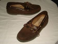ROCKPORT DARK BROWN LEATHER DECK SHOES SZ. 11.5 M