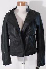 NWT Converse Womens Asymmetrical Leather Moto Jacket L Black MSRP$298
