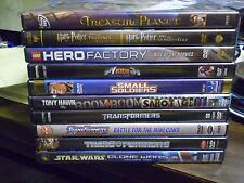 (13) Childrens Adventure DVD Lot: Disney  LEGO  (3) Transformers  Despicable Me