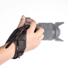Soft Leather Camera Hand Wrist Grip Strap Band for DSLR Sony α Canon Nikon New