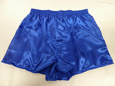 Royal Blue Poly Satin Boxer Shorts X/Large