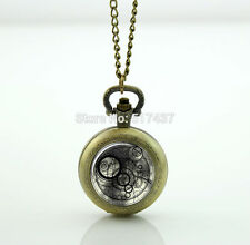Doctor Who Pocket Watch Timelord Seal Jewelry Floating Glass Lockets Necklace