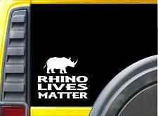 Rhino Lives Matter Sticker k117 6 inch zoo animal decal