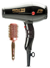 PARLUX 385 NERO ASCIUGACAPELLI PowerLight Ceramic Ionic + GRATIS Brush + 2 UGELLI