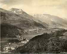 Schroeder, Suisse, Saint-Moritz  vintage photomechanical Photomécanique  20x