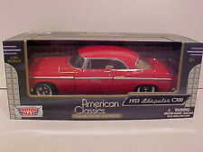 1955 Chrysler C300 Coupe Die-cast Car 1:24 Motormax 8 inch Red