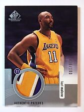 2003-04 SP Game Used Authentic Patches Karl Malone Game Used 2 Color /100 Lakers