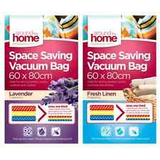 2 X Vacuum Compressed Storage Bags Saving Space Seal Vac Fragranced 60x80cm OTL