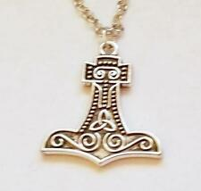 THOR'S HAMMER  Trilobe Silver Charm Necklace