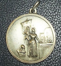 "EXQUISITE ANTIQUE SAINT JOAN OF ARC CATHOLIC MEDAL BEAUTY DESIGN ""ALCAPA"""