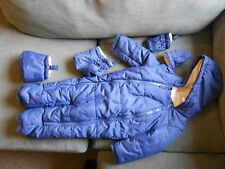 F&F Boys snowsuit 12-18m with boots and mittens