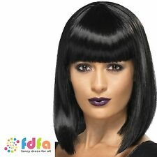 BLACK RnB STAR JESSIE J SHORT BLUNT CUT BOB WIG ladies womens fancy dress
