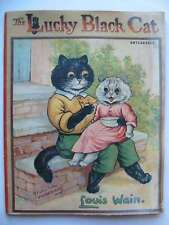 THE LUCKY BLACK CAT. Illus. by Wain, Louis