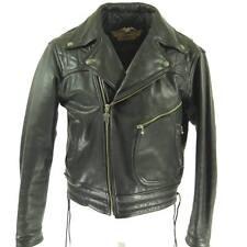 Harley Davidson Leather Jacket Mens 44 Motorcycle Biker Quilted Liner