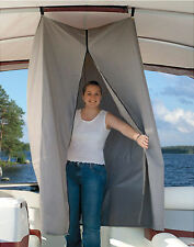 "Pontoon Boat Easy Up Privacy Partition Enclosure 30"" X 30"" X 70"" Grey Polyester"
