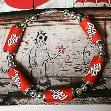 Unique DR PEPPER CANS BRACELET handcrafted COKE retro FAB bangle GIFT soda can