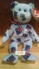 STARRY Ty Asia Pacific Beanie Baby FLAG Bear AUSTRALIA actual picture FLAG NOSE