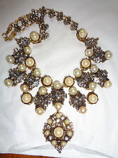 $1955 ERICKSON BEAMON STRATOSPHERE PEARL CRYSTAL STATEMENT NECKLACE
