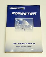 2001 SUBARU FORESTER OWNERS MANUAL V4 2.5L AWD 2WD L S FUSES FLUIDS RADIO FUNCTI