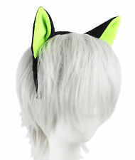 Black Cat with Neon Green Ears Flexible Headband Cosplay Anime One Size Punk NEW