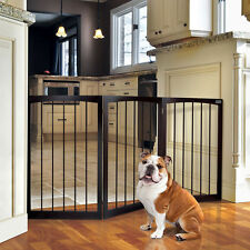 Pet Gate Freestanding Free Standing Wood Dog Wooden Inch Tall Gates Step